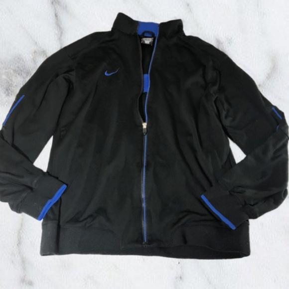 7e780f7026 Nike Black   Blue Men s Zip Up Front Track Jacket.  M 5b60dcaaf63eeae43883ce2d